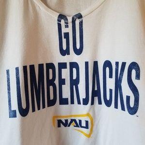 NAU Lumberjacks short sleeve v-neck tee.